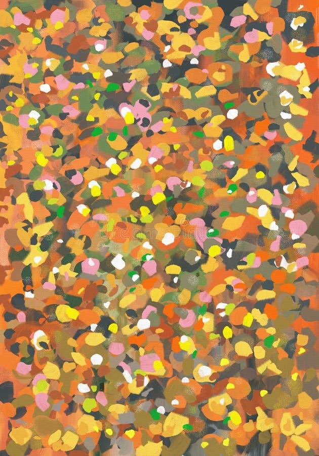 在帆布的抽象表现主义样式油画艺术品 库存例证