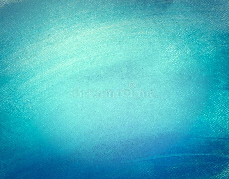 在帆布的蓝色水彩油漆 抽象派背景 皇族释放例证