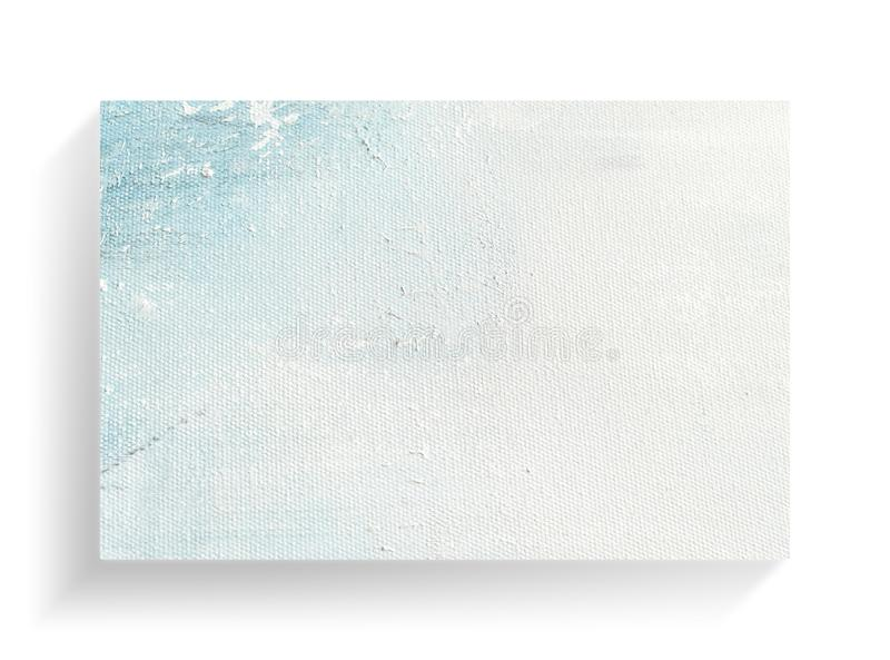 在帆布纹理背景的摘要五颜六色的绘的艺术 特写镜头 免版税库存照片