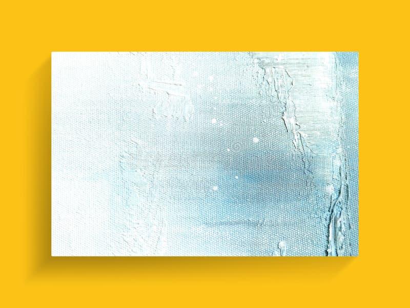 在帆布纹理背景的摘要五颜六色的绘的艺术 特写镜头 免版税库存图片