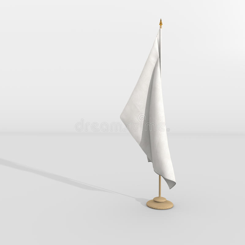 在帆柱的白旗 库存例证