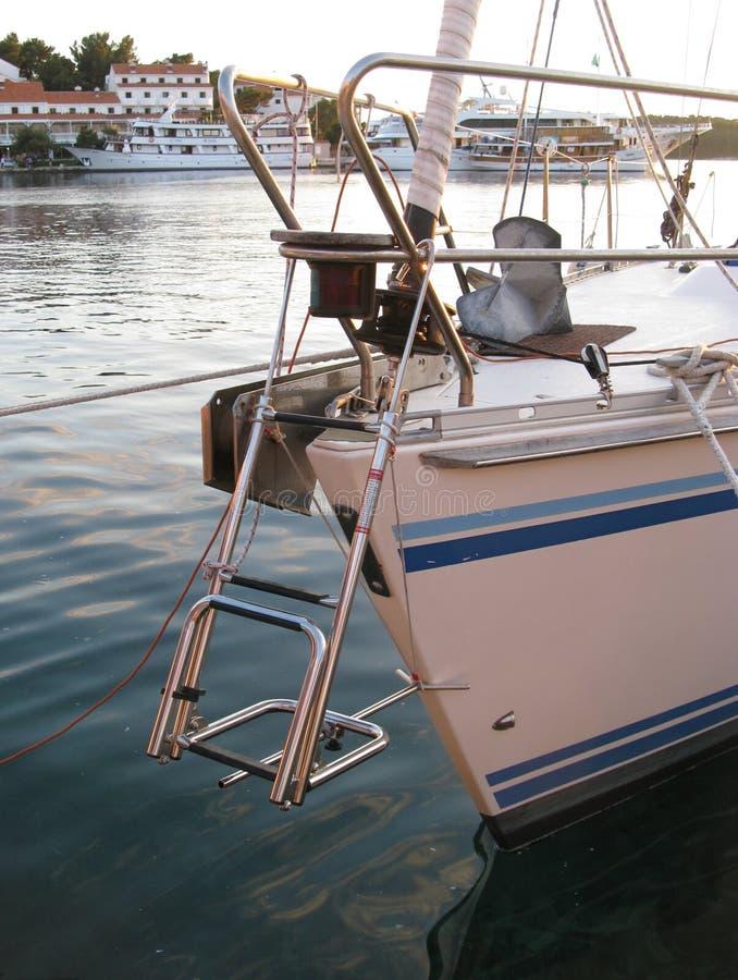 在帆船的台阶 免版税库存图片