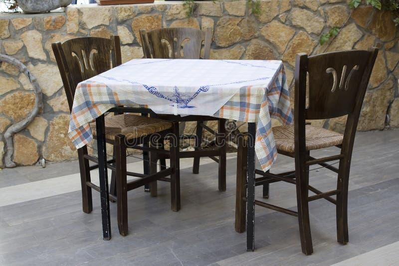 在希腊传统taverna 图库摄影