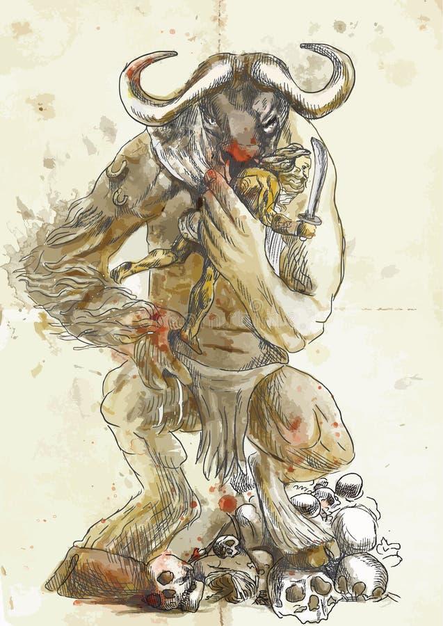 Minotaur, Theseus 向量例证