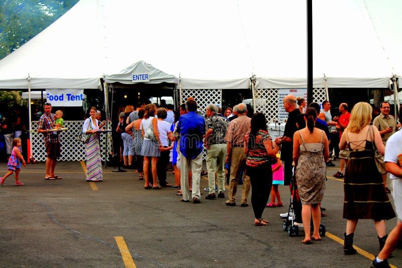 在希腊fest的食物线路 库存照片