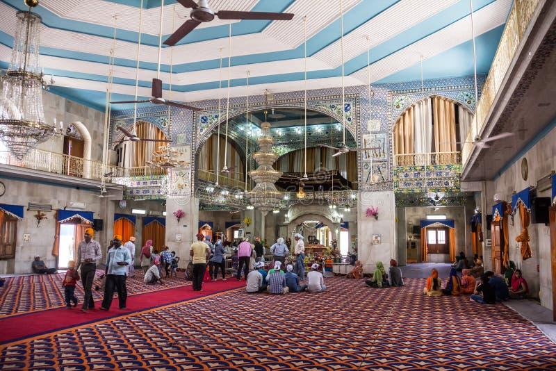 在帕奥恩塔萨希布的锡克教徒的寺庙 免版税库存照片