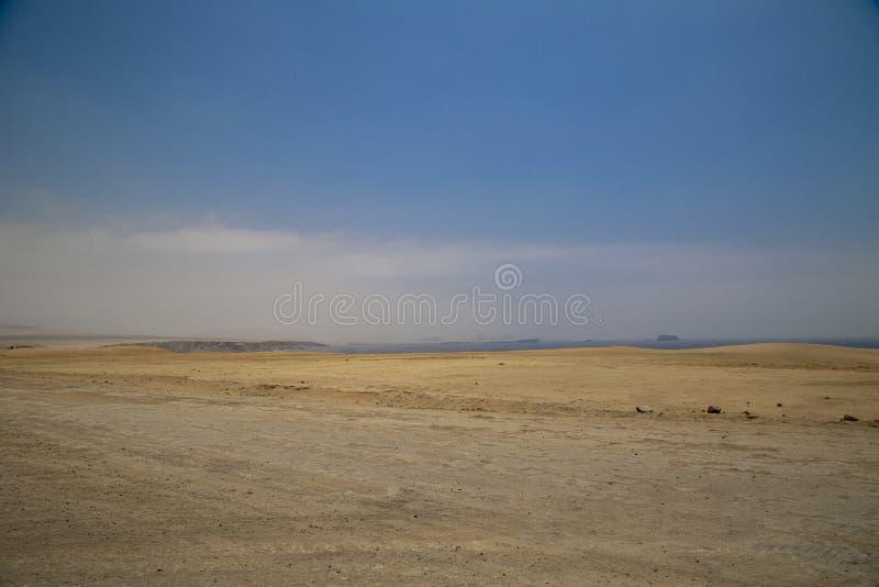 在帕拉卡斯半岛国立公园储备,Pisco,秘鲁的全景风景 图库摄影