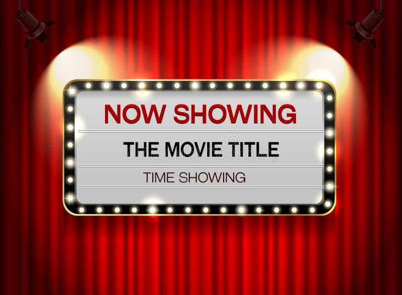在帷幕的剧院标志 库存例证