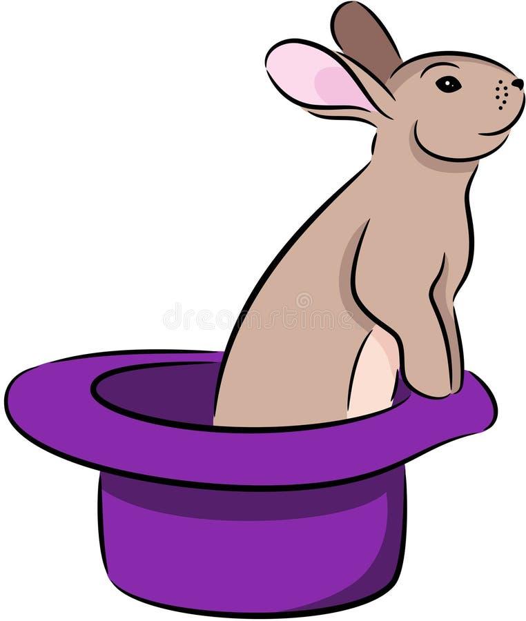 在帽子的兔子 向量例证