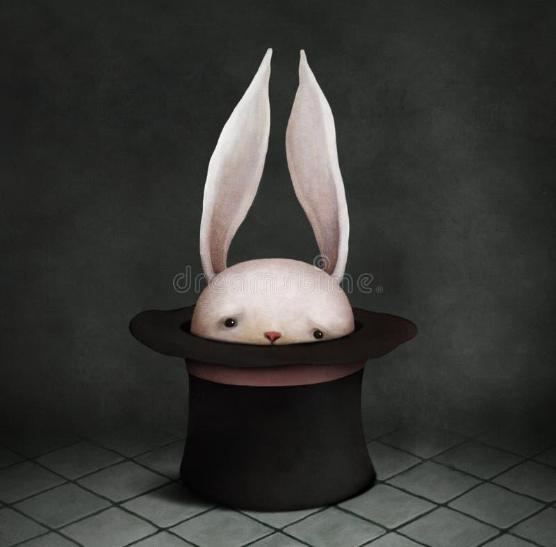 在帽子的兔宝宝 皇族释放例证