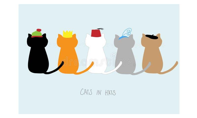 在帽子的猫 库存例证