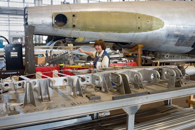 在幕后游览,国家博物馆美国空军 库存照片
