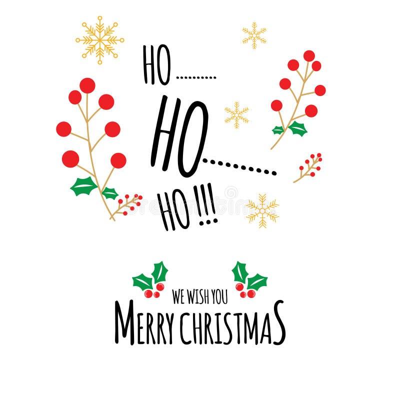 在平和手拉的圣诞卡片传染媒介 向量例证