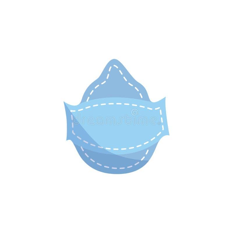 在平或动画片样式的工业防护防尘面具 向量例证