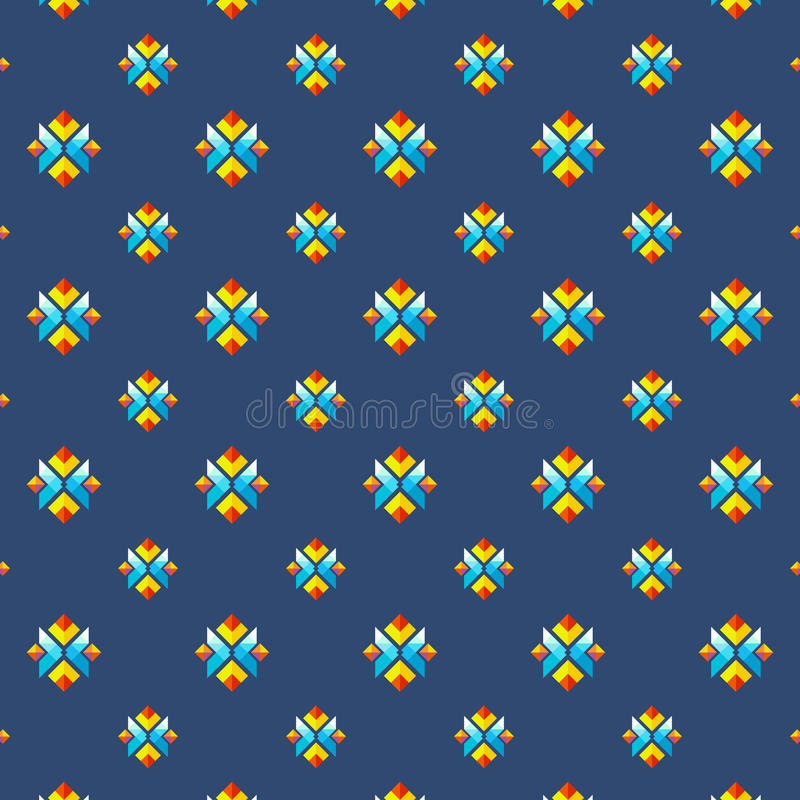 在平的最小的样式的五颜六色的几何无缝的样式背景和纹理的 图库摄影