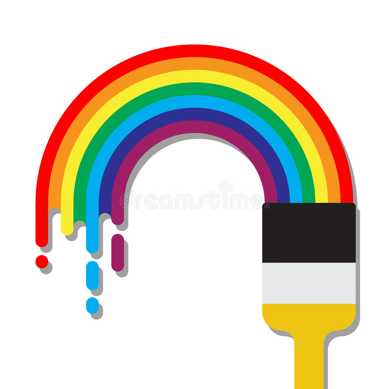 在平的样式传染媒介例证的彩虹 向量例证