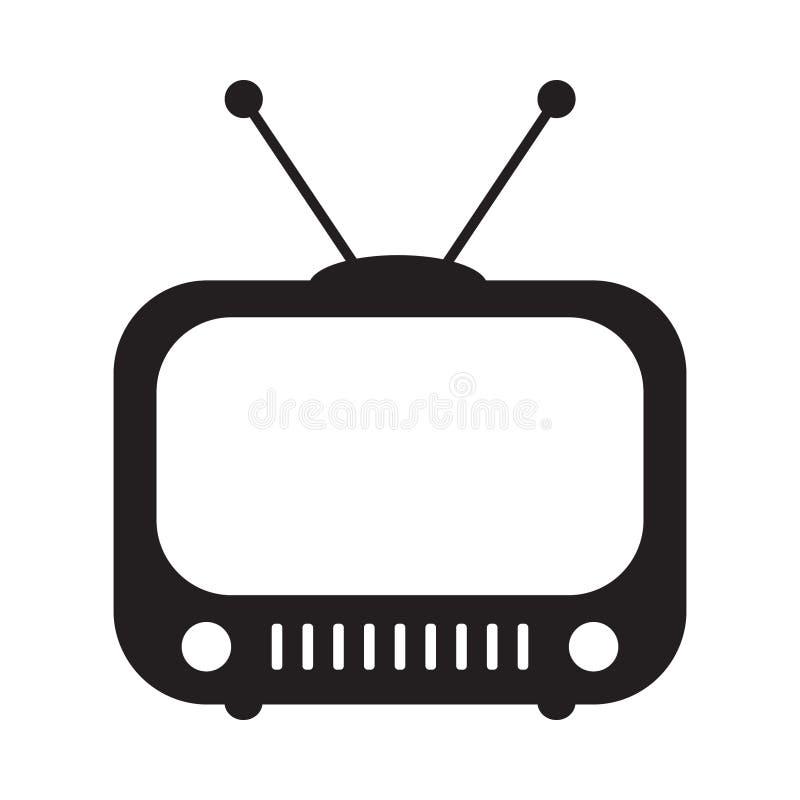 在平的样式的减速火箭的电视象,黑白减速火箭的电视象,减速火箭的电视象传染媒介例证您的设计 皇族释放例证