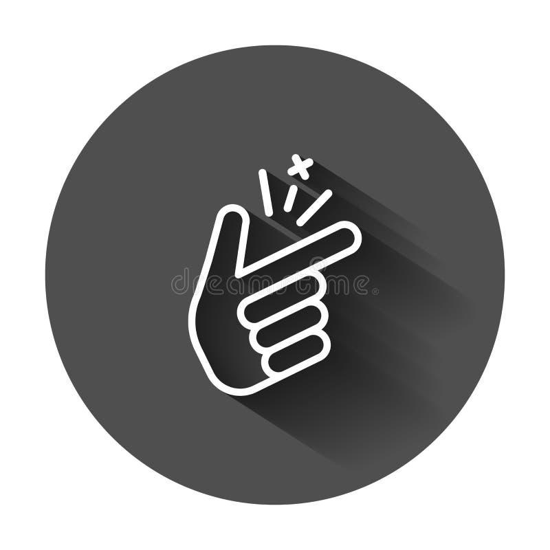 在平的样式的手指短冷期象 手指表示传染媒介illust 库存例证