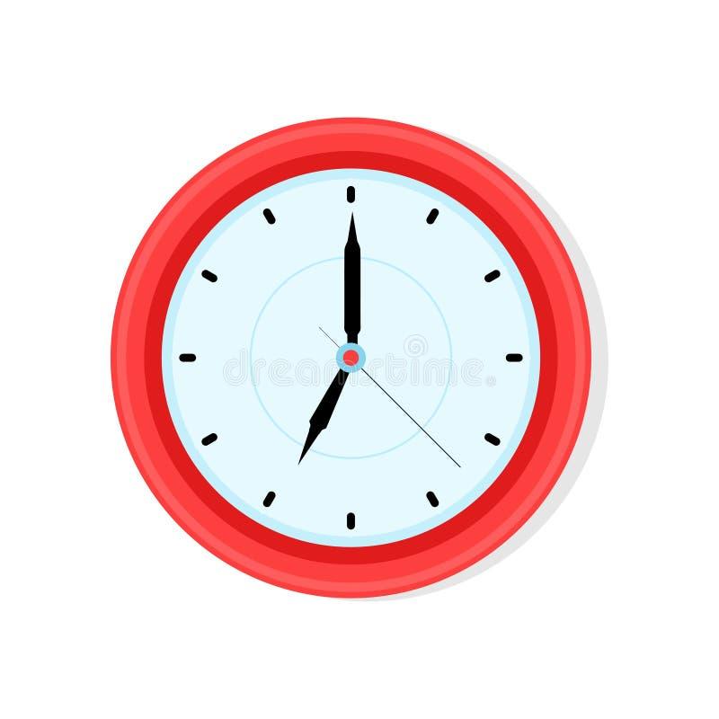 在平的样式的时钟象 r 库存例证