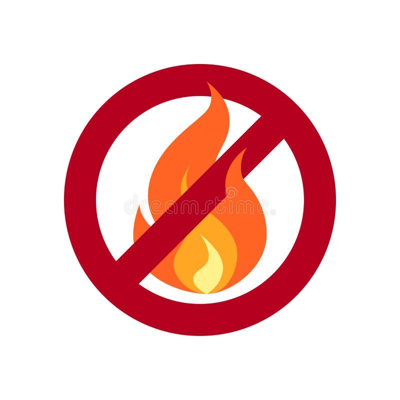 在平的样式的没有火简单的传染媒介象 皇族释放例证