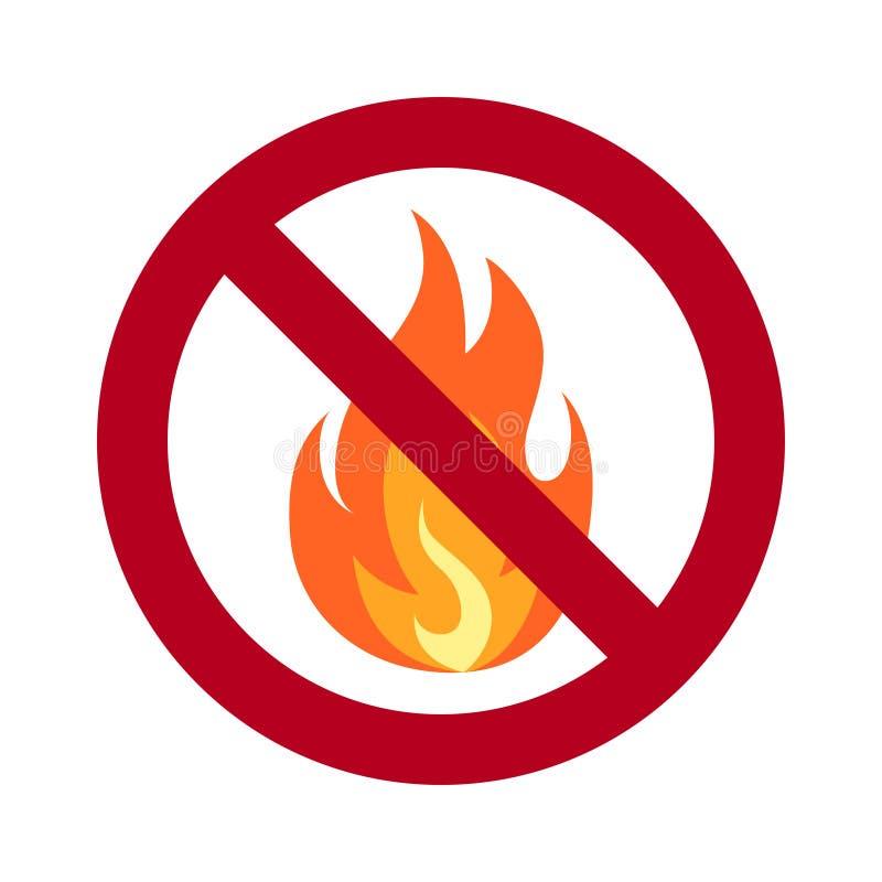在平的样式的没有火简单的传染媒介象 向量例证