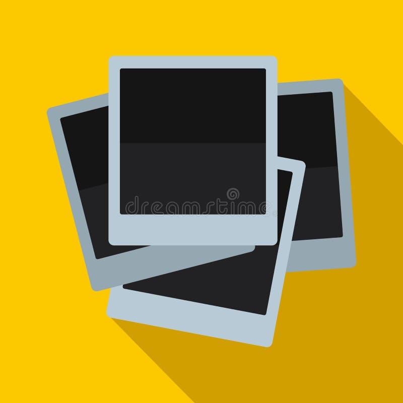 在平的样式的照片象 库存例证