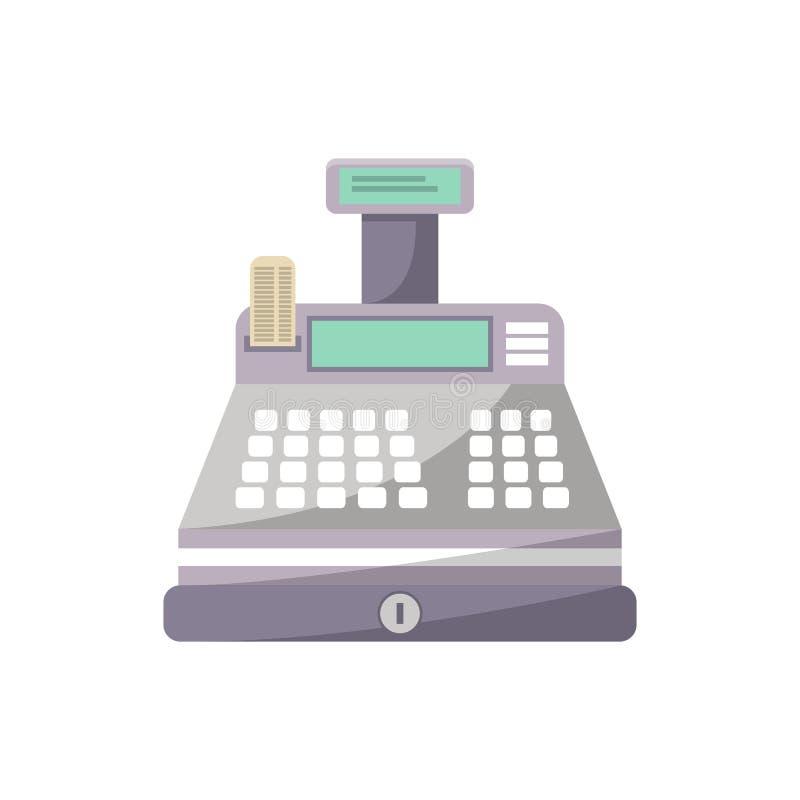 在平的样式的现钞机象 向量例证