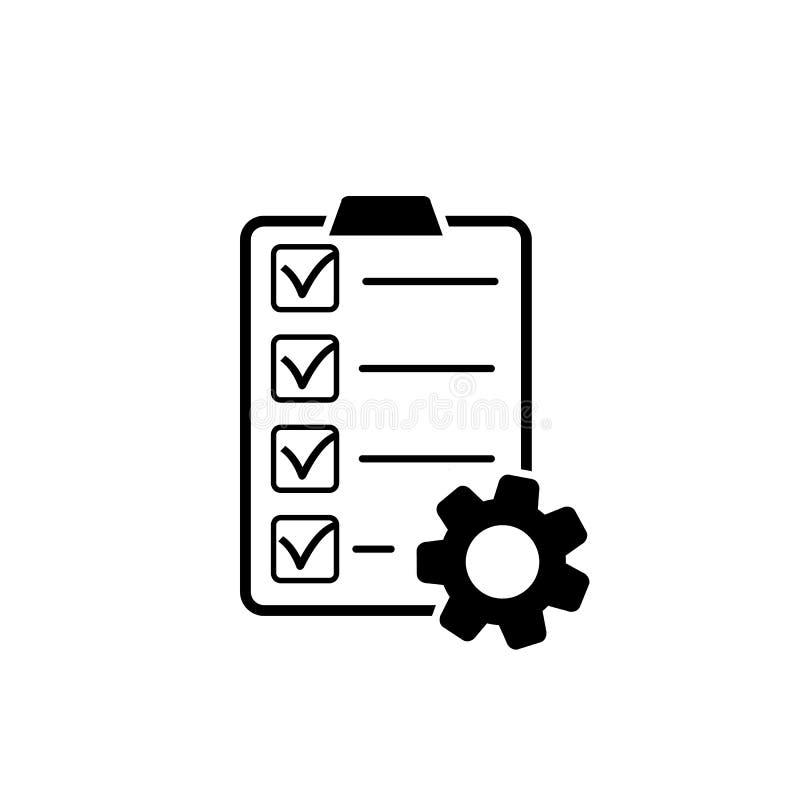 在平的样式的项目管理象 您的网站设计的项目标志,商标,应用程序,UI ?? 皇族释放例证