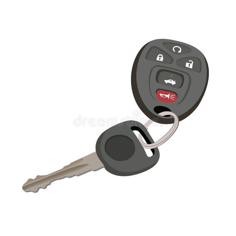 在平的样式,传染媒介例证的汽车钥匙 皇族释放例证
