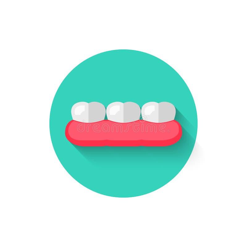 在平的设计样式传染媒介例证隔绝的牙象 在口腔医学题材的现代,最低纲领派象  向量例证