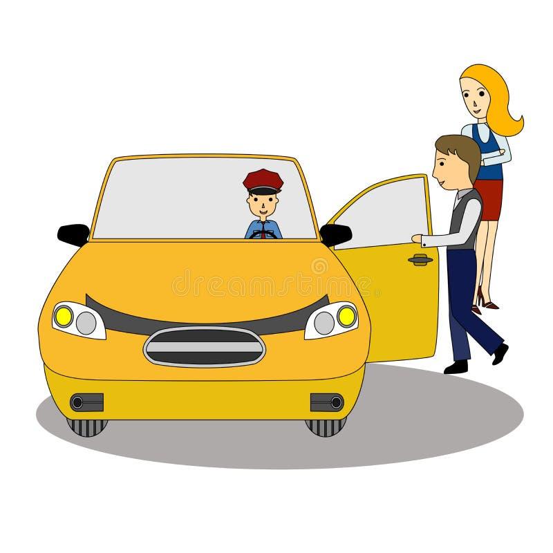 在平的设计样式的例证在出租汽车题材 皇族释放例证