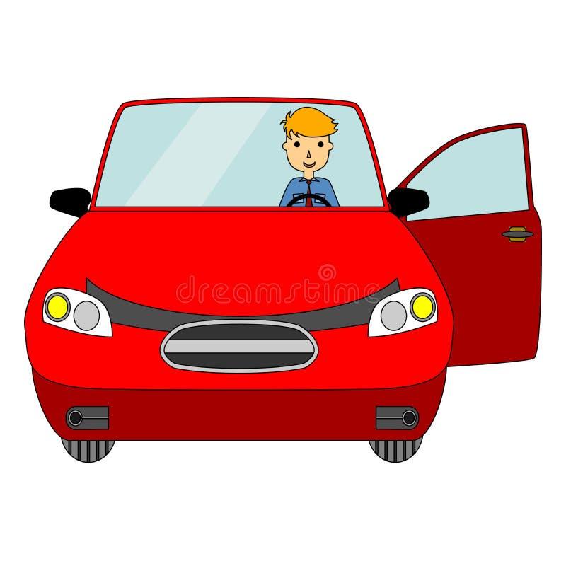 在平的设计样式的例证在出租汽车题材 向量例证