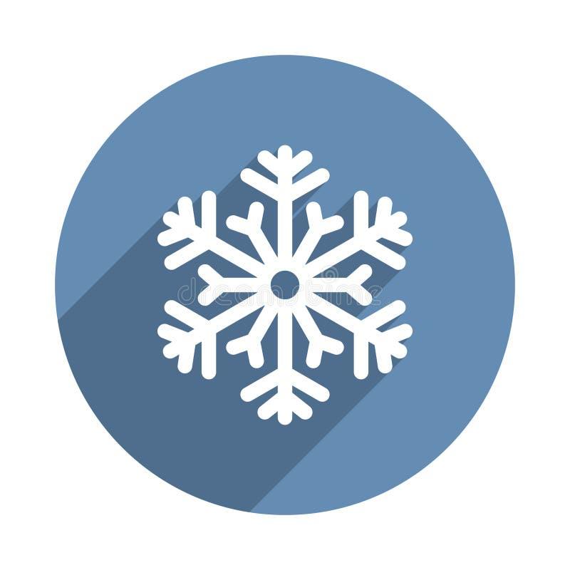在平的设计样式的雪花象 向量 向量例证
