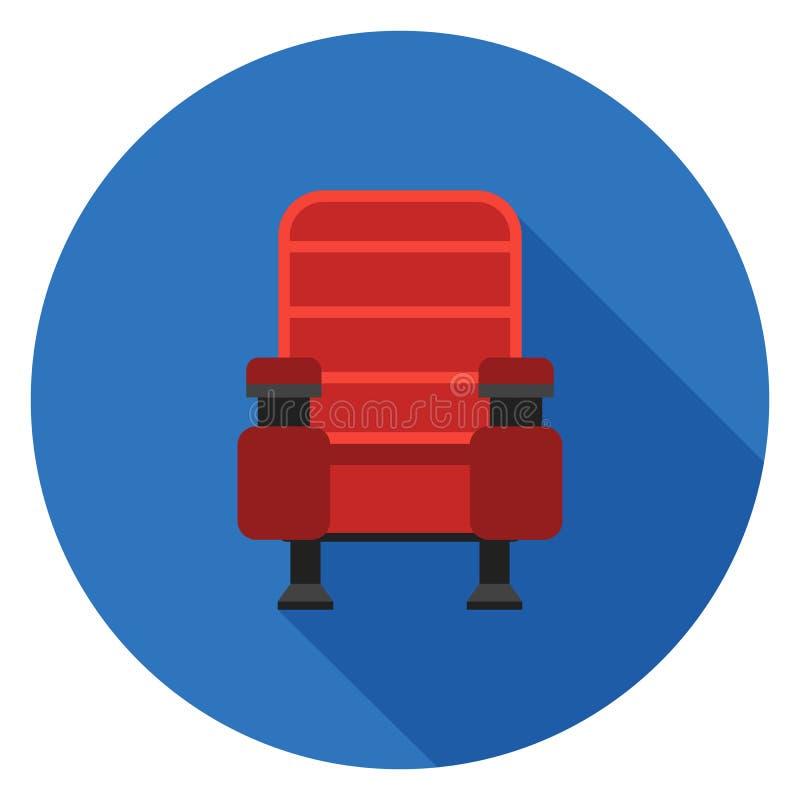在平的设计的扶手椅子象 库存照片