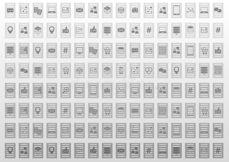 在平的设计的抽象信息技术例证背景 皇族释放例证