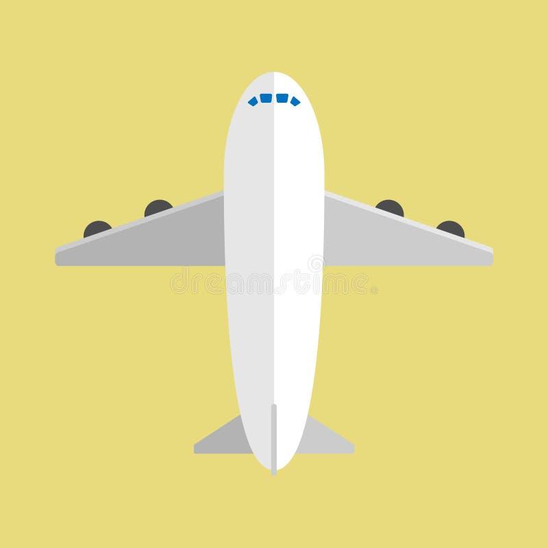 在平的设计的空中飞机有背景 向量例证