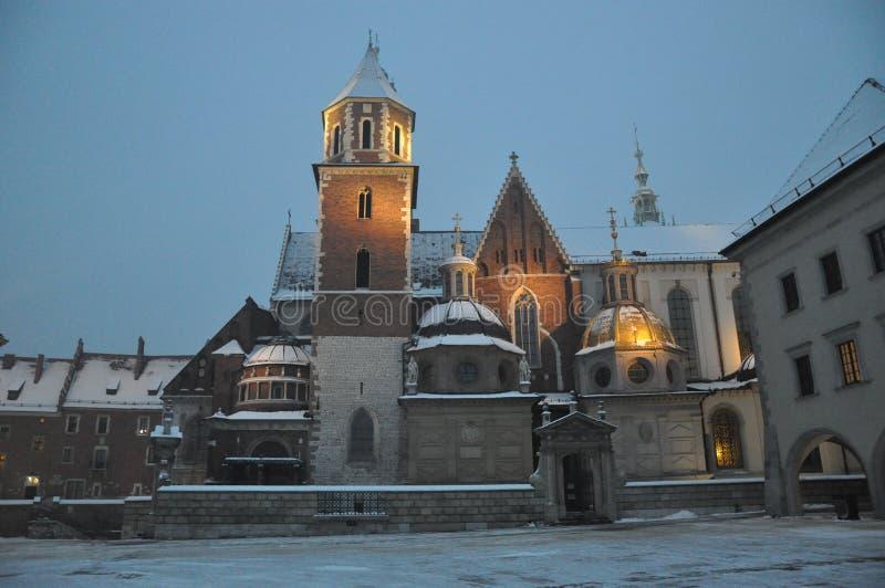 在平衡克拉科夫的Wawel城堡 库存图片