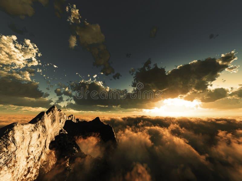 在平衡视图的云彩之上 免版税图库摄影