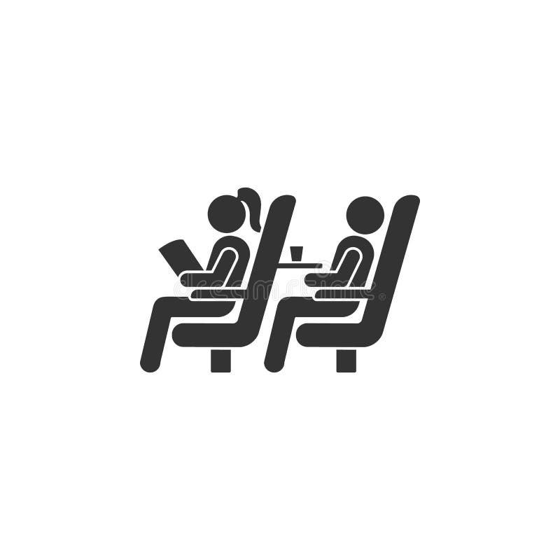 在平面象的位子 机场象的元素流动概念和网应用程序的 在平面象的详述的位子可以使用为 向量例证