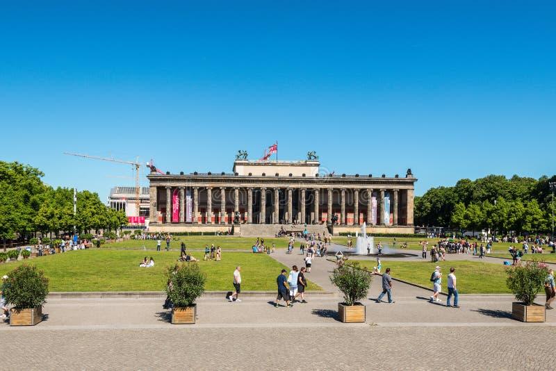 在年兴建的上古Altesmuseum博物馆1830在柏林 免版税图库摄影
