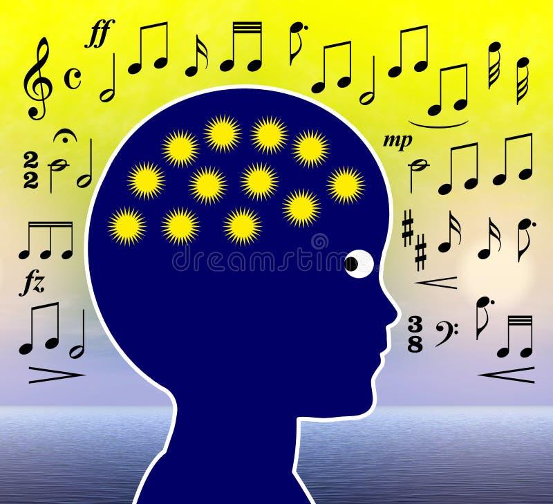 在幼儿期教育的音乐 向量例证