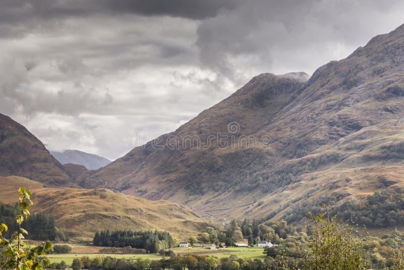 在幽谷Ure的看法在西部Argyll,苏格兰 库存照片