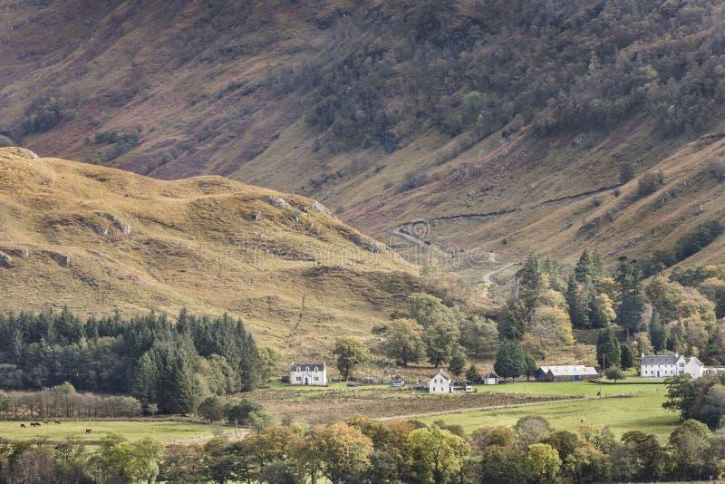 在幽谷Ure的看法在西部Argyll,苏格兰 库存图片