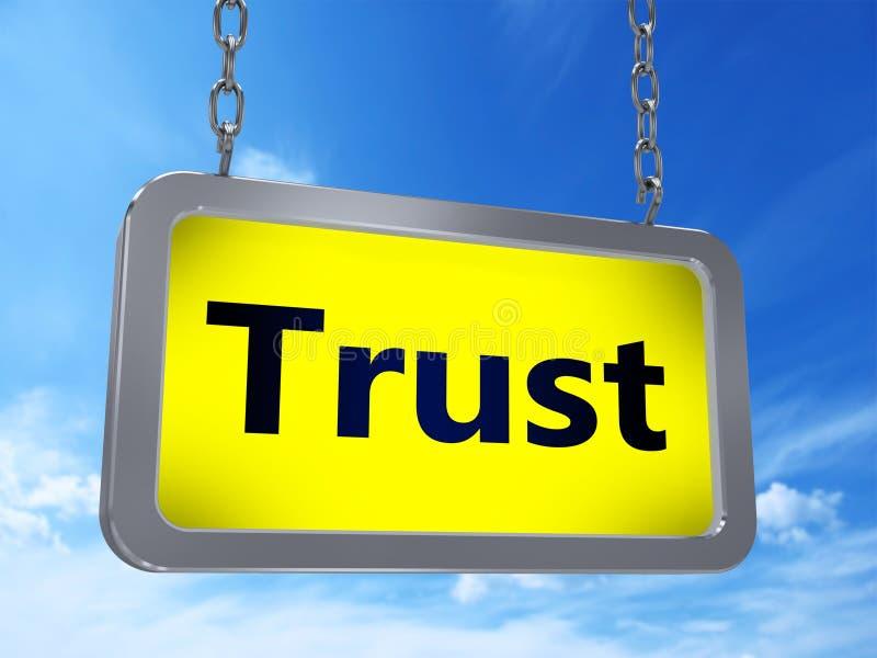 在广告牌的信任 向量例证