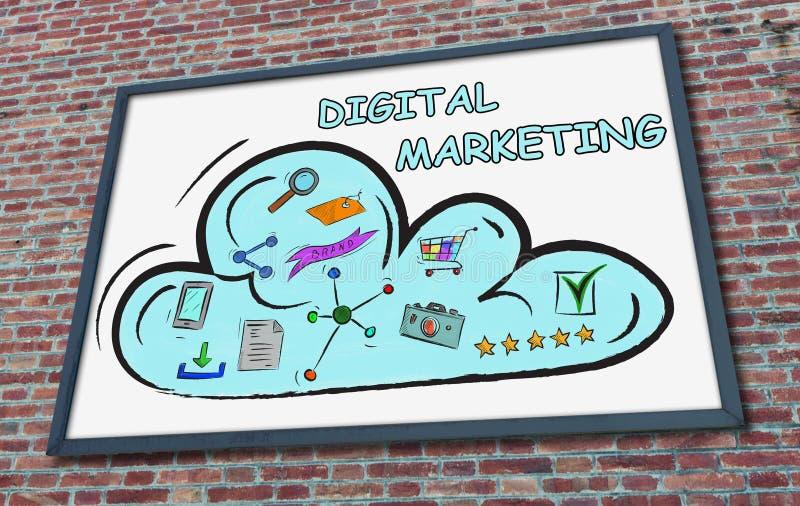 在广告牌的数字销售的概念 库存图片