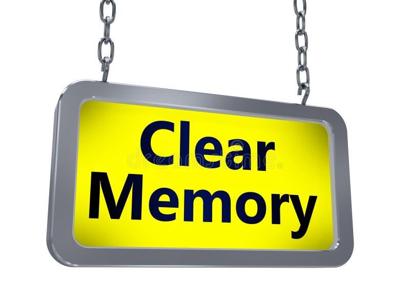 在广告牌的清楚的记忆 向量例证