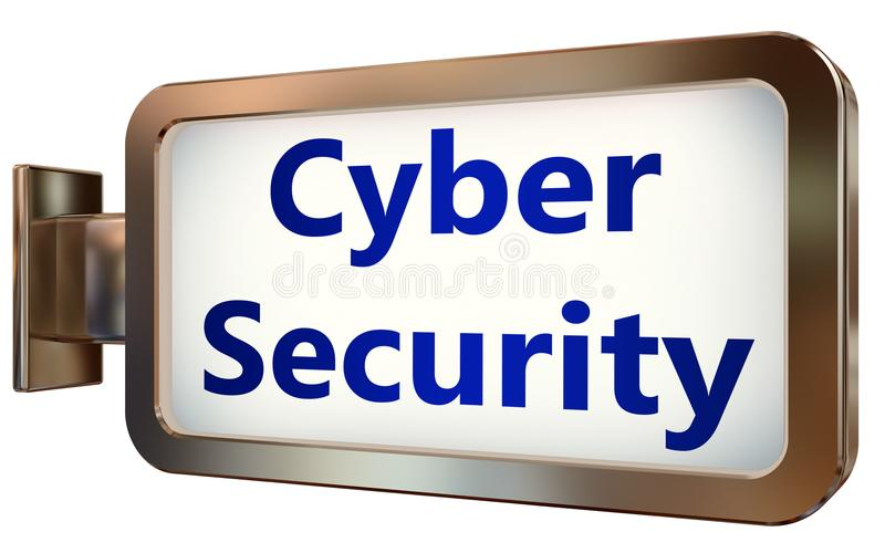 在广告牌背景的网络安全 向量例证