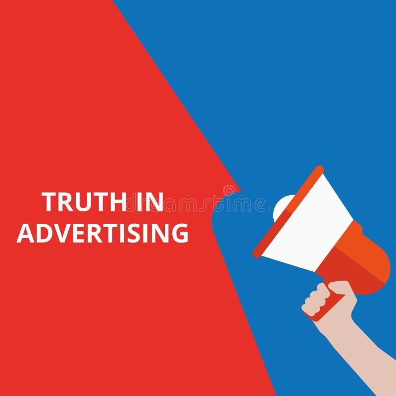 在广告的文本真相 库存例证