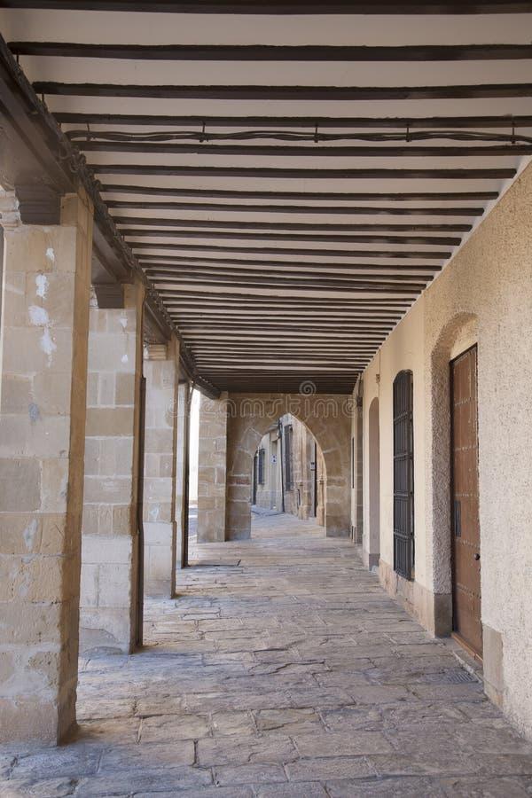 在广场1马约角广场的传统建筑;宇部 免版税库存照片