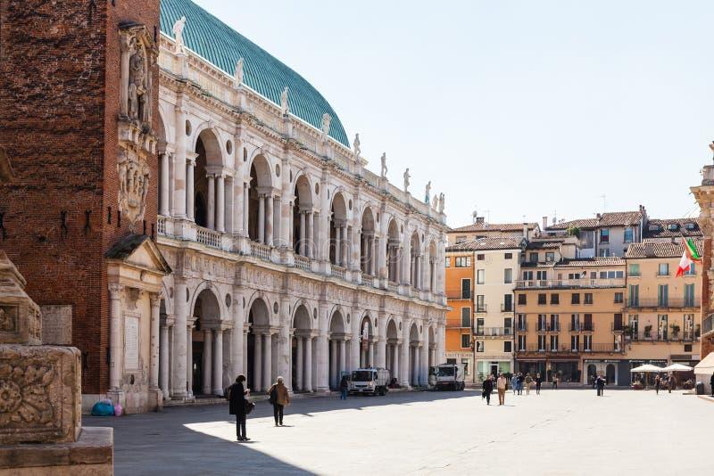 在广场dei绅士的大教堂Palladiana 免版税图库摄影